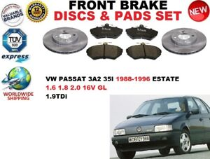 para-VW-PASSAT-3a5-35i-Familiar-88-96-Discos-freno-Delantero-Set-PASTILLAS-DE