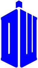 "Doctor Who DW Tardis Vinyl Decal 3"" Tall ***Medium Blue*** - Sticker"