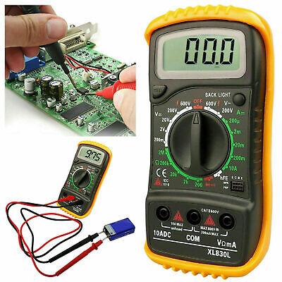 LCD Digital Multimeter Voltmeter Ammeter AC DC OHM Current Circuit Buzzer Tester
