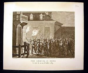 Paris-garde-par-le-peuple-Revolution-francaise-12-7-1789-Prieur-Berthault-XIXeme