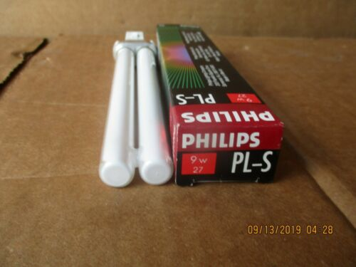 PHILIP LAMP FOURESCENT PL-S 9W 27W White cent  9W Single Ended Bi-Pins .
