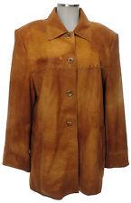 Gerry Weber Samoon Jacke 44 (D) Leder Ziegenleder braun top Lederjacke leather