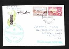 Tongo Tin Can Canoe Mail Via SS Mariposa Sea Mail Niuafo'ou Islands 1966  Z37