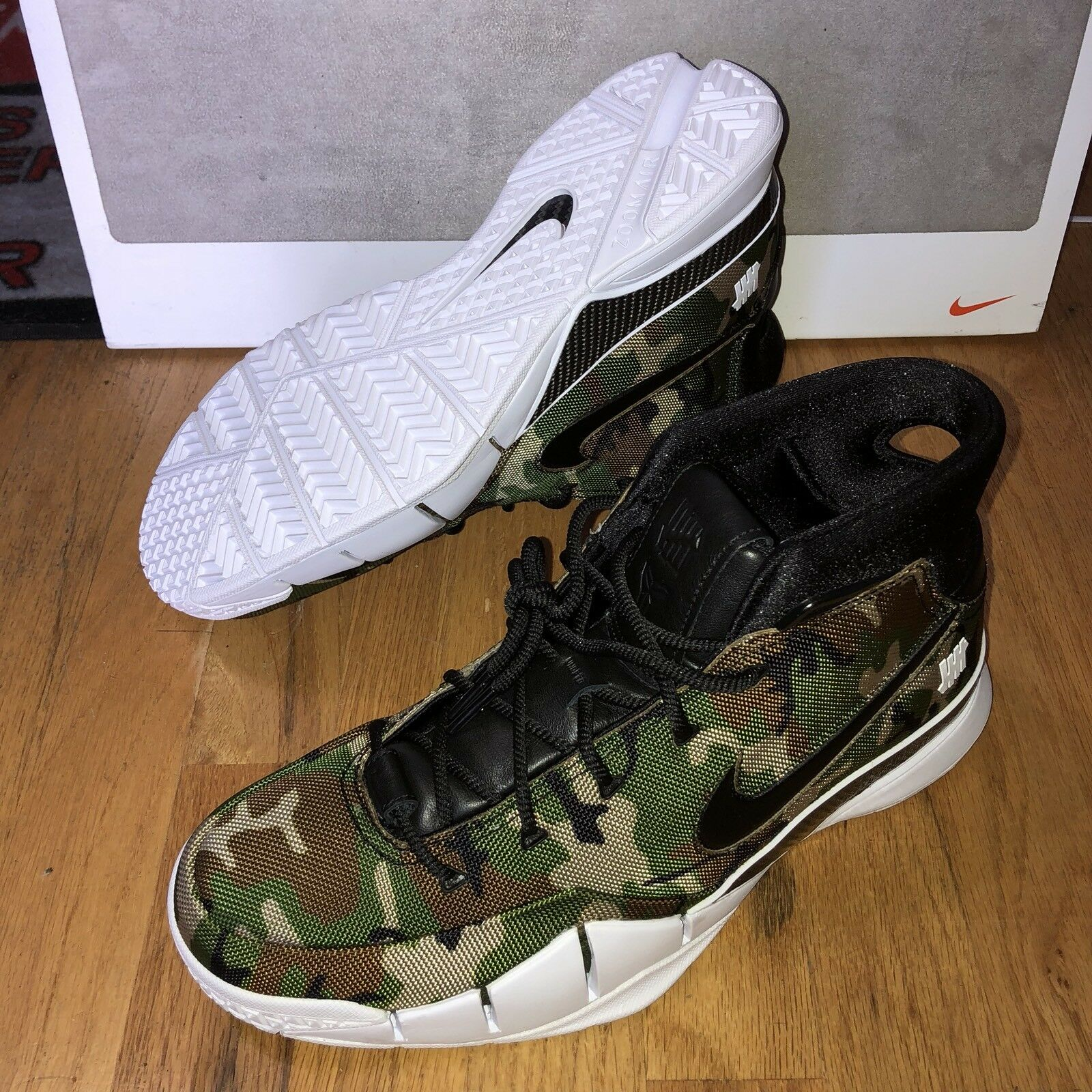 NIKE KOBE 1 PROTRO UNDEFEATED Green Camo AQ3635-300 Men's Size 9 New Deadstock