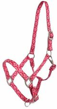 Neoprene Lined Nose and Crown Eyelets on Crown and Adjustable Nose and Throat Latch Showman Cob Sized Nylon Sparkle Glitter Halter Color Choice