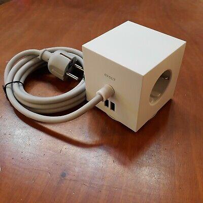 Extrastar adaptador plano con interruptor y tres enchufes schuko 16A//250V~ MAx.3680W