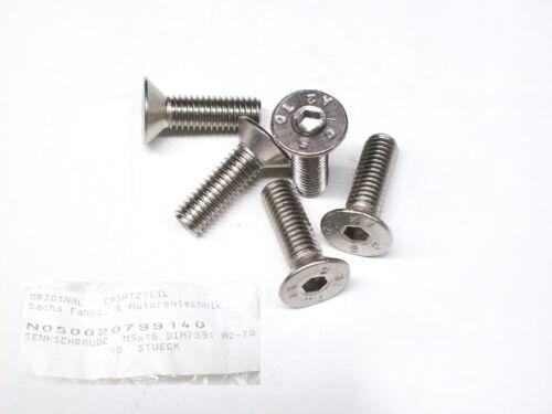 Innensechskant- Nirosta 5 x 6-Kant Senkkopfschraube M5x16 DIN 7991
