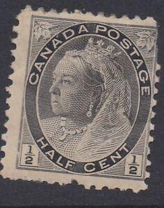 1898-1902 Queen Victoria numerals issue 1/2c Scott 72 mint faulty  12041843