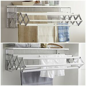 Image Is Loading Pottery Barn Wall Mount Drying Rack Clothes Laundry