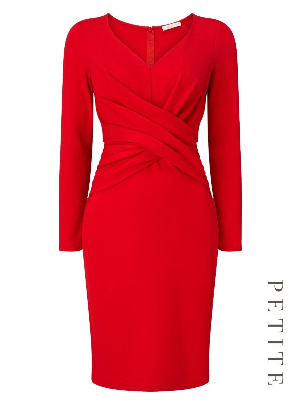 Jacques Grün Petite Ponte Dress Größe UK 18 rot rot rot rrp  DH089 OO 07 | Shop Düsseldorf  | Ab dem neuesten Modell  | Internationale Wahl  d16e41