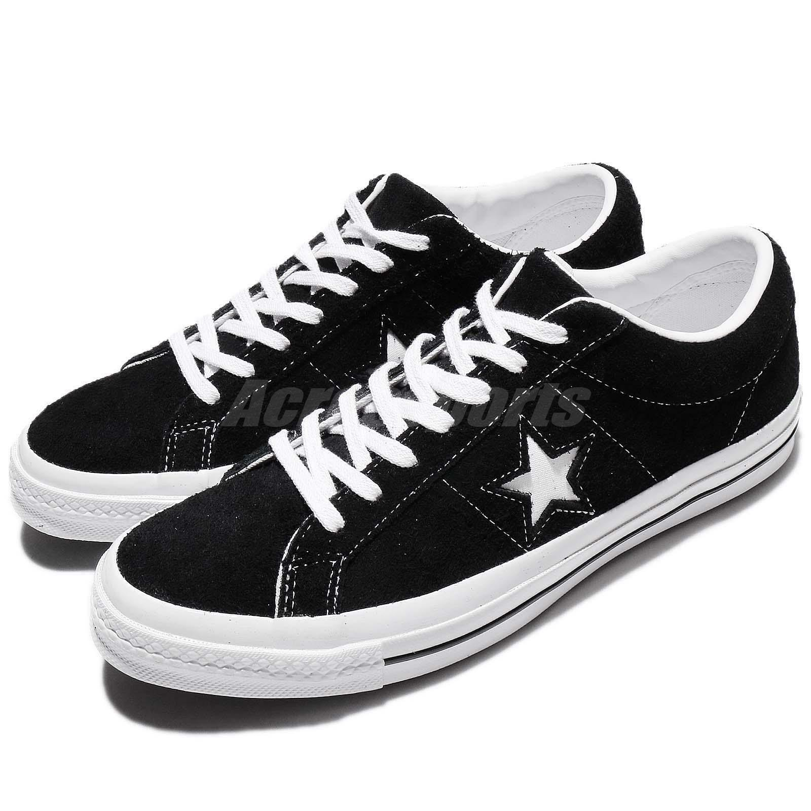 Converse One Star Ox Black White Suede