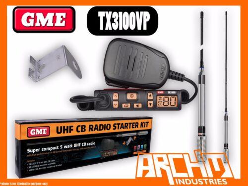 80CH 5 WATT SUPER COMPACT ANTENNA MOUNTING BRACKET GME TX3100VP UHF CB RADIO