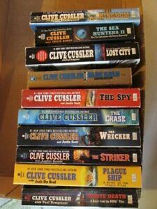 Clive-Cussler-Isaac-Bell-Fargo-amp-Oregon-Files-10-Piece-Book-Lot-Paperback-SZ7