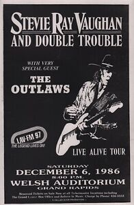STEVIE-RAY-VAUGHAN-1986-TOUR-ORIGINAL-GRAND-RAPIDS-CONCERT-POSTER-THE-OUTLAWS