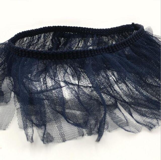 2M Mesh gauze tassel Lace Wedding Decoration Sewing Clothing Trim Material 8cm