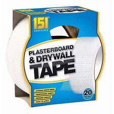 20 Metres Adhesives Plasterboard Drywall Tape Strong White Mesh Repairs Cracks