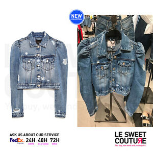 d5b587f75b Details about ZARA WOMEN NEW COLLECTION! SS17 DENIM JACKET WITH PUFF  SLEEVES 5252/016/400