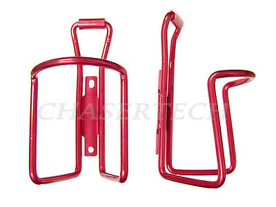 New MTB Road City Touring Bicycle Bike Alloy Bottle Cages Red1 Pair
