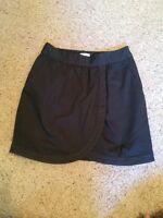 Leifsdottir (anthropologie) Canvas Twill Tulip Wrap Skirt Frt Pockets Gray Sz 4