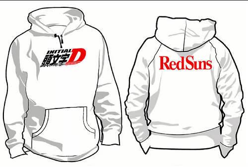 Initial D Hoodie Red Suns RX7 13B Turbo RX-7 Drift AE86