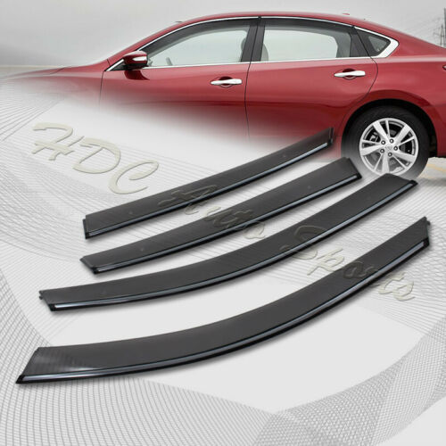 For 2013-2017 Nissan Altima 4DR//Sedan Smoke Door Window Visor W// Chrome Molding