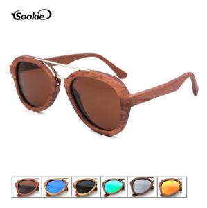 edd214cb5 Image is loading Handmade-Unisex-Zebra-Wood-Polarized-Sunglasses-Retro- Glasses-