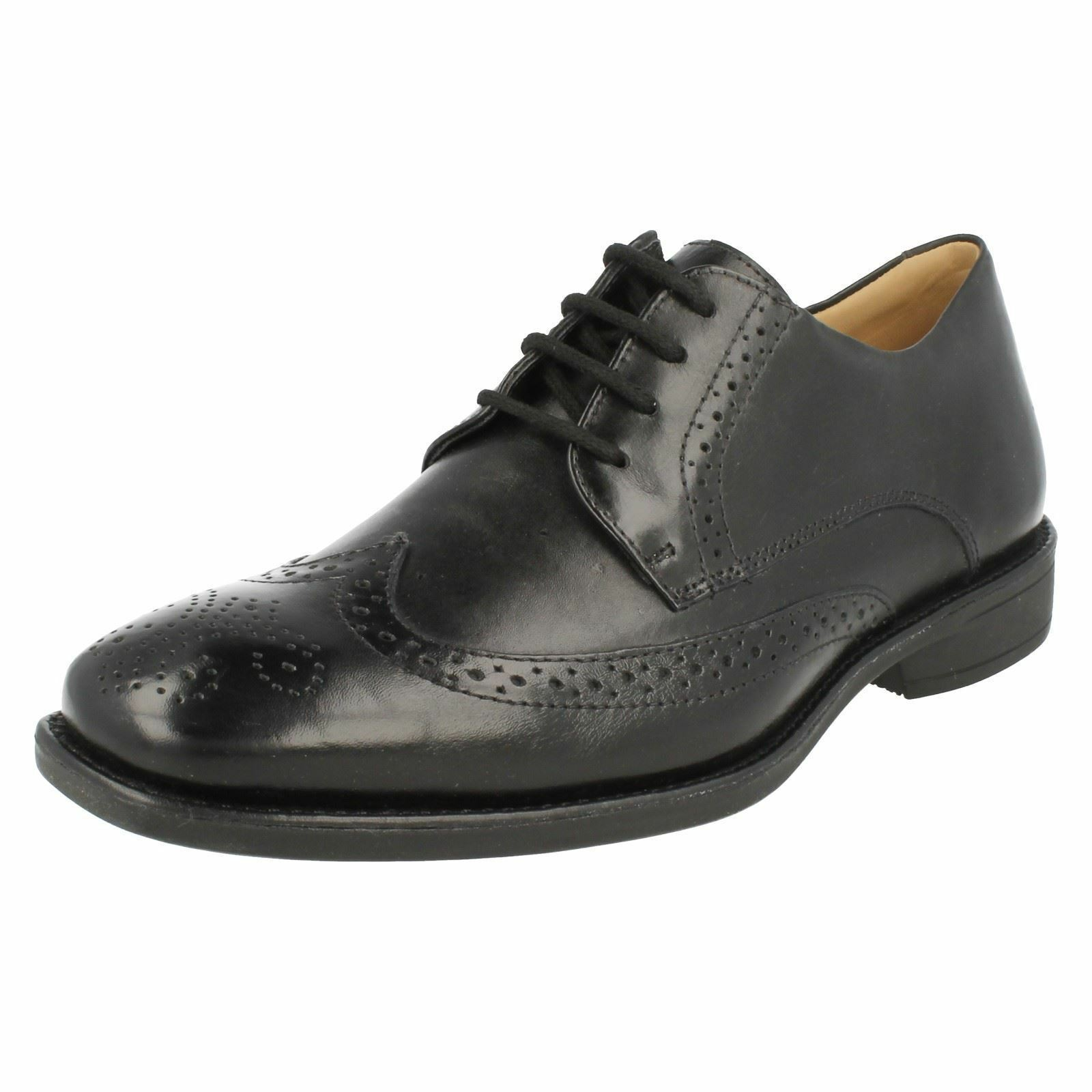 Mens Anatomic Black Touch Leather Lace Up Brogue Shoes Mococa 929267