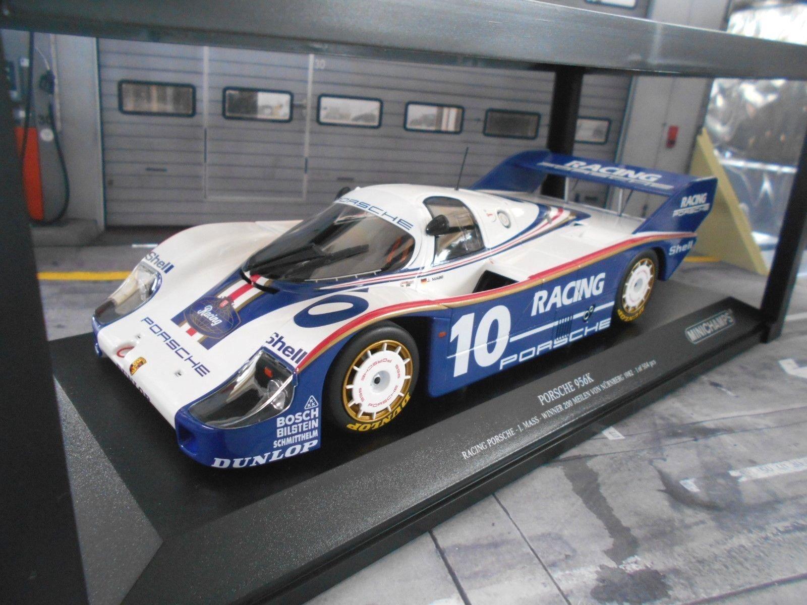Porsche 956 Dimensione C Norisring 200 millas mass winner 1982 nbrg Minichamps 1 18