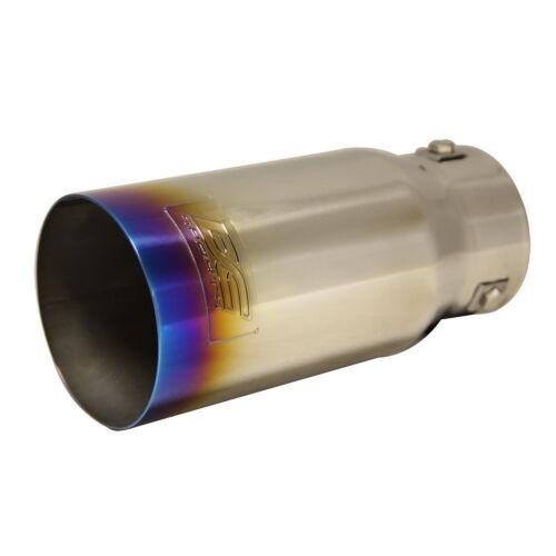 "DC Sports Bolt On Burnt Titanium Steel Exhaust Muffler Tip 7.5/"" x 3.5/"" x 3/"""
