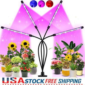 80LED 40W Grow Light with 3 Modes Timing Function for Indoor Plants Growth  Lamp
