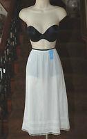Dixie Belle A-line 100% Nylon Adjustable Hem White Half Slip Plus Size 1x