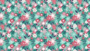 Fabric-100-cotton-Makower-UK-Fruity-Friends-Floral-Blue-1945-B