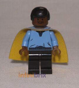 Lego Lando Calrissian (costume bleu) De Set 10123 Cloud City Rare Nouveau Sw105