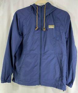 L-L-Bean-Mountain-Classic-Mens-Blue-Full-Zip-Jacket-Anorak-Windbreaker-Hoodie-L