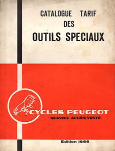 Catalogue Tarif Outils Speciaux Peugeot Mobylette 1966