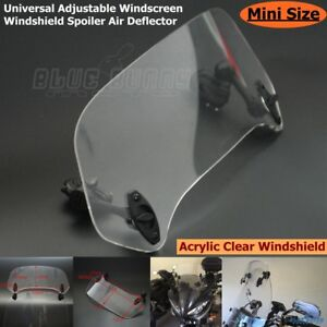 Motorcycle Clip-on Windscreen Windshield Extension Spoiler Air Deflector for BMW
