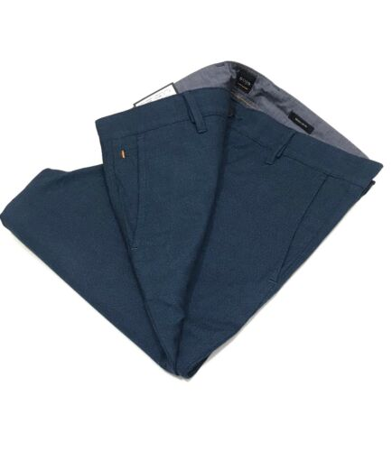Hugo Boss Regular fit trousers in overdyed melange stretch cotton      RRP £119