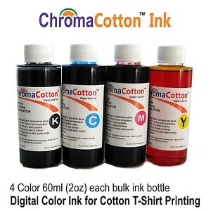 Image Is Loading 4 COLOR INK BULK REFILL CHROMA COTTON PRINT