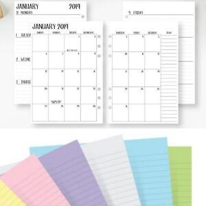 Calendrier Agenda 2020.Details Sur Compatible Avec Filofax Personnel Agenda 2020 Calendrier Fente Papier Semaine