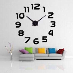 New-Clock-Watch-Wall-Clocks-Horloge-3d-Diy-Acrylic-Mirror-Stickers-Home