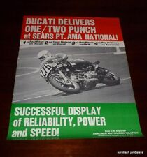 DUCATI SEARS POINT Racing Poster nos Paul Ritter 750 900 SS bevel twin ROLLED
