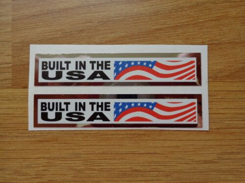 2 x GT Reproduction Built In USA BMX Decals//Sticker Mid//Old School 1990/'s