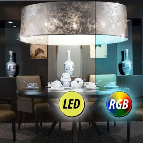 RGB LED Decken Pendel Lampe Fernbedienung Wohnraum Textil Hänge Leuchte DIMMER