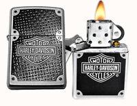 Zippo Lighter 24025 Harley Davidson Carbon Satin Chrome Windproof on Sale