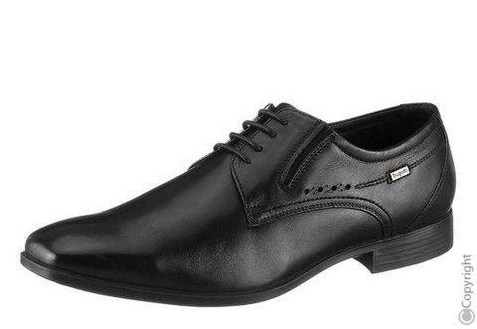 Bugatti Herren Business Schuhe Schwarz Gr. 41 NEU OVP