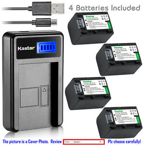 Kastar-Battery-LCD-Charger-for-Sony-NP-FH70-NPFH70-FH70-amp-Sony-SLT-A35-HXR-MC1