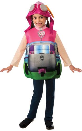 Child PAW PATROL Fancy Dress Costume Rubble Marshall Chase Skye Back Pack Kids