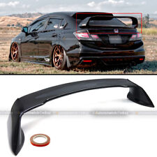 Fits 12 15 Civic 4dr Sedan Glossy Black Jdm Mugen Style Rr Trunk Wing Spoiler Fits 2013 Honda Civic Si