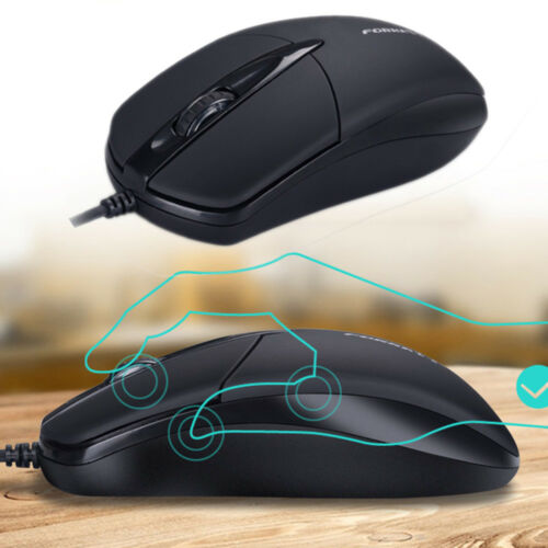 1PC 3 Button 1200 DPI USB Wired Silent Optical Gaming Mice Mouses For PC Laptop