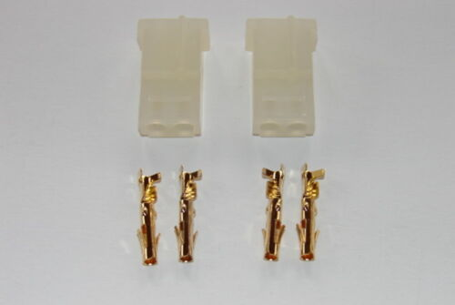 2 Stück AMP Buchse mit Goldkontakt Pins Neu